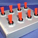 A retro-style control panel module.